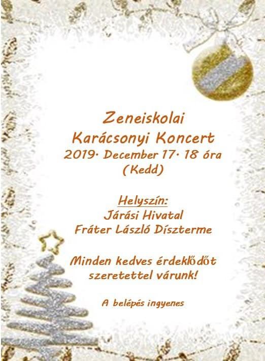 Zeneiskolai Karácsonyi Koncert