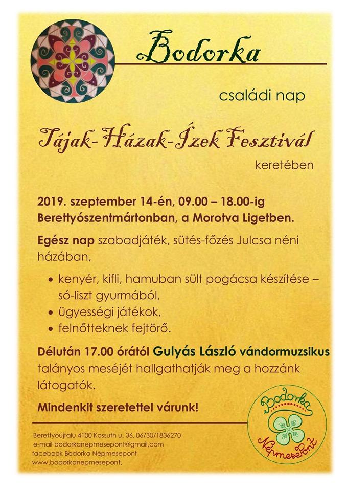 Bodorka családi nap a Tájak-Házak-Ízek Fesztivál keretében