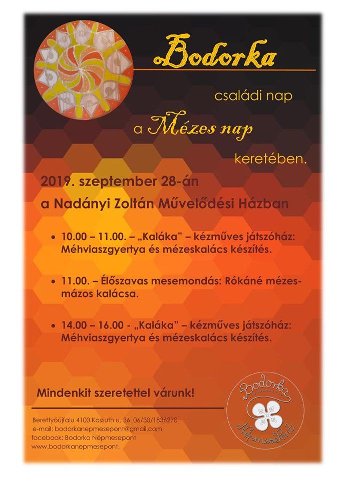 Bodorka családi nap a Mézes nap keretében
