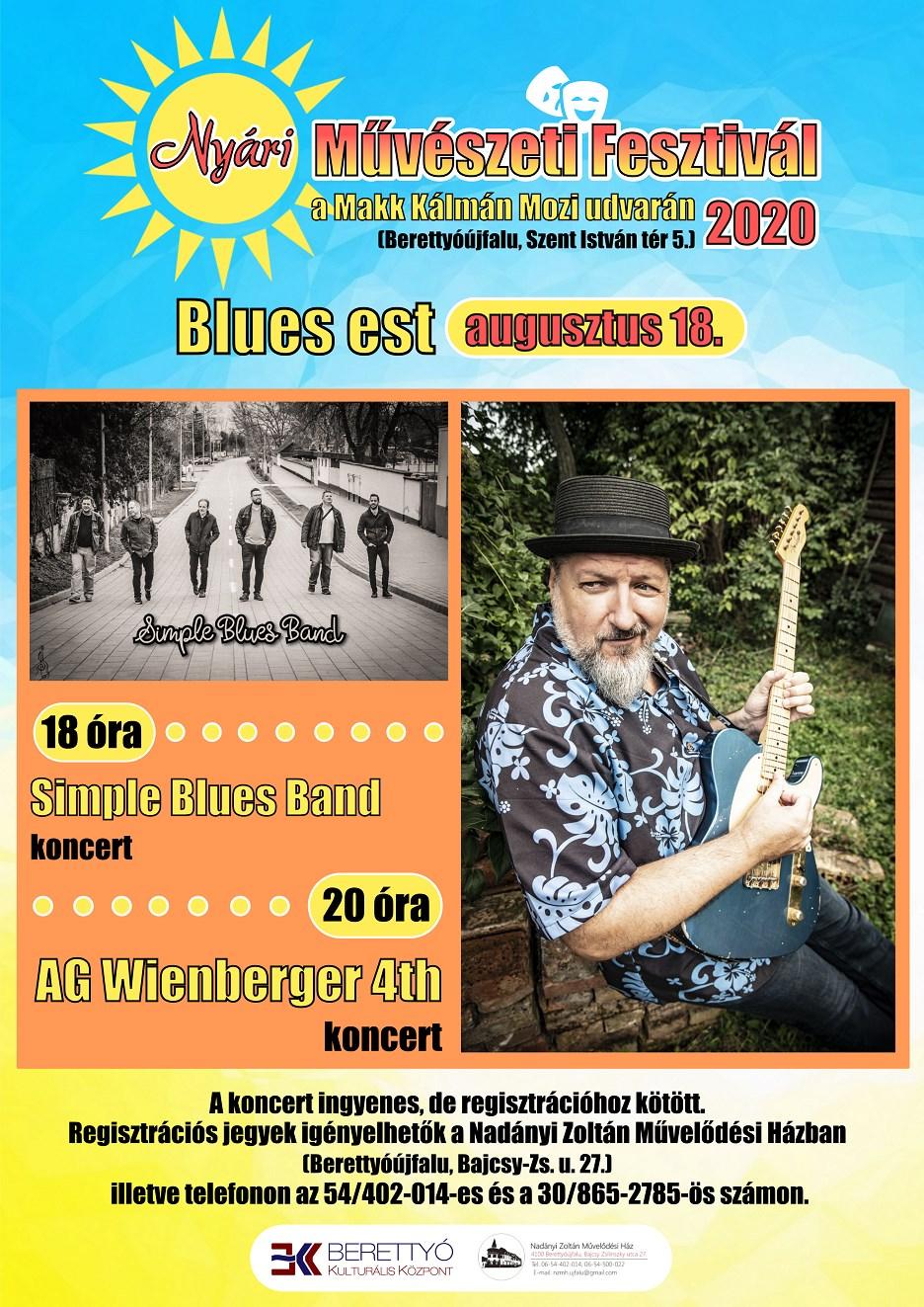 Nyári Művészeti Fesztivál - Blues est