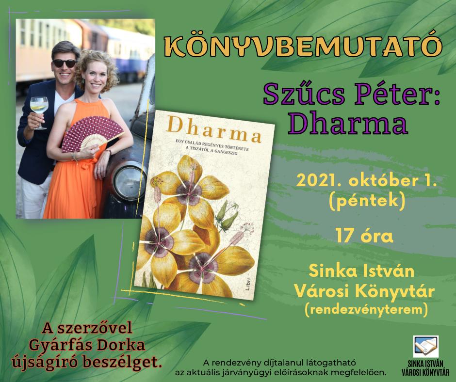Könyvbemutató - Szűcs Péter: Dharma