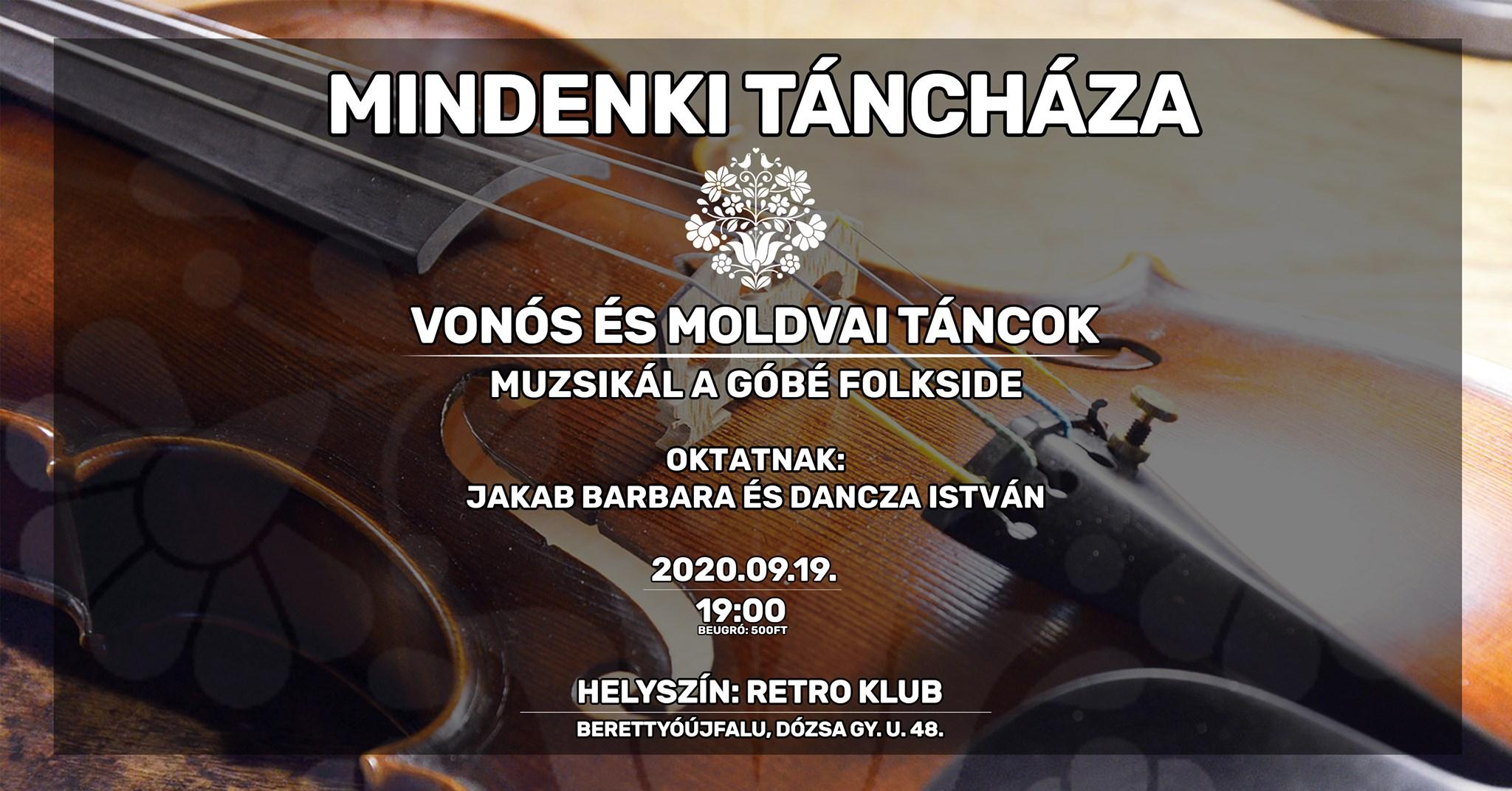 Mindenki táncháza-Vonós és moldvai táncok