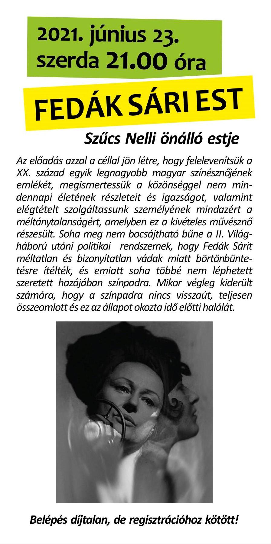 Nyári Művészeti Fesztivál - Fedák Sári Est