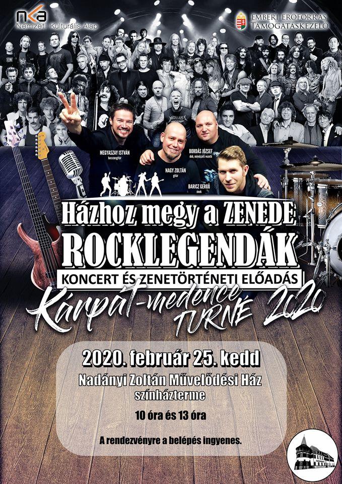 Házhoz megy a Zenede - Rocklegendák - koncert és zenetörténeti előadás