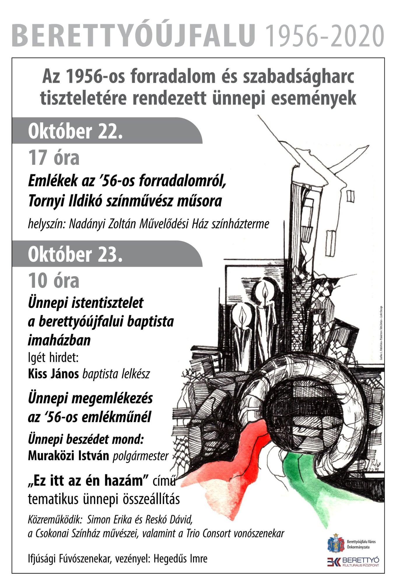 Az 1956-os forradalom és szabadságharc tiszteletére rendezett ünnepi események