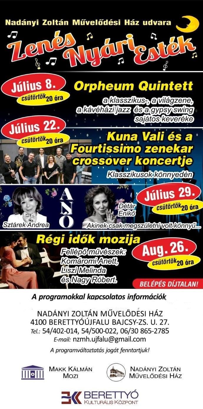 Kuna Vali és a Fourtissimo zenekar crossover koncertje