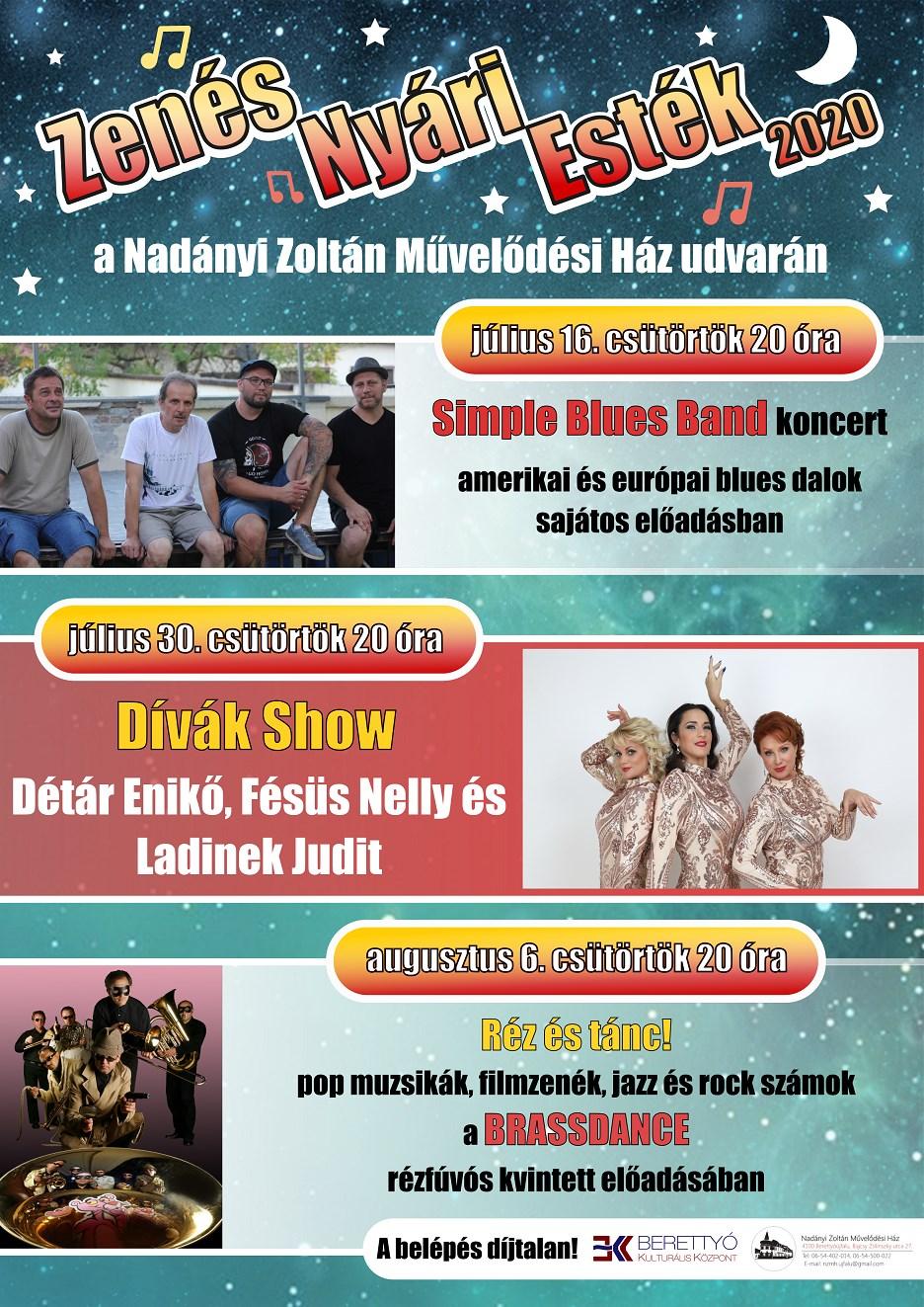 II. Zenés Nyári Esték 2020. - Dívák Show
