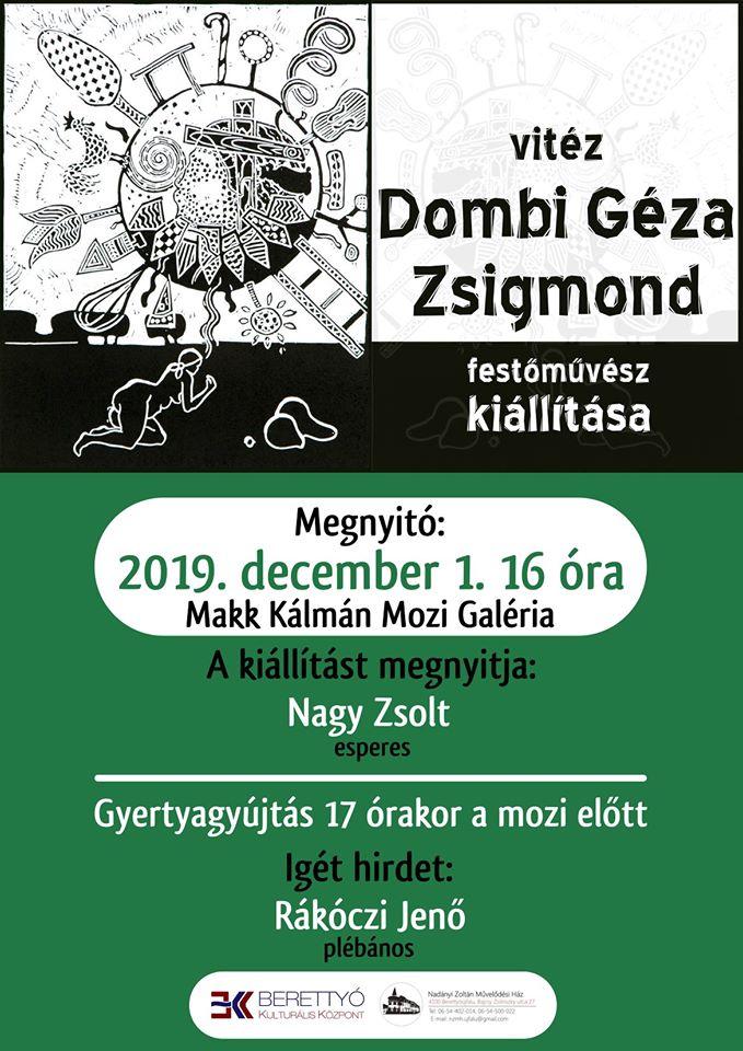 Vitéz Dombi Géza Zsigmond festőművész kiállítása