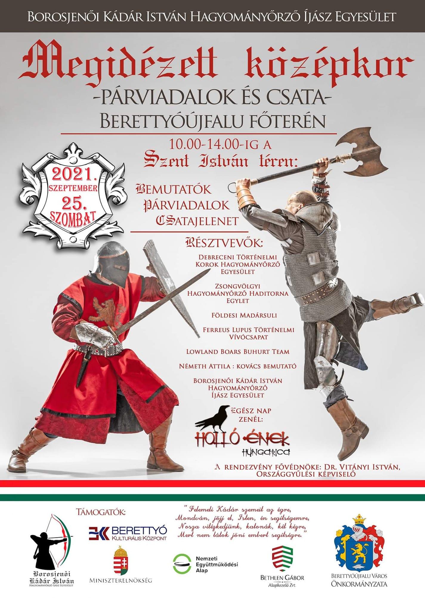 Megidézett középkor - Párviadalok és csata Berettyóújfalu főterén
