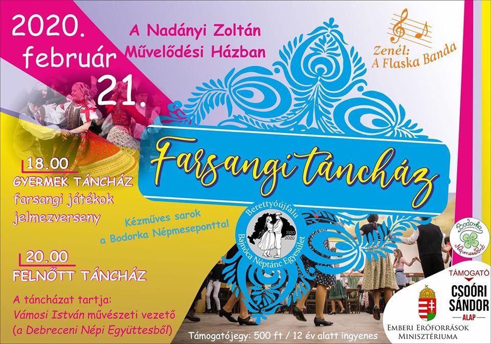 Farsangi táncház a Nadányi Zoltán Művelődési Házban