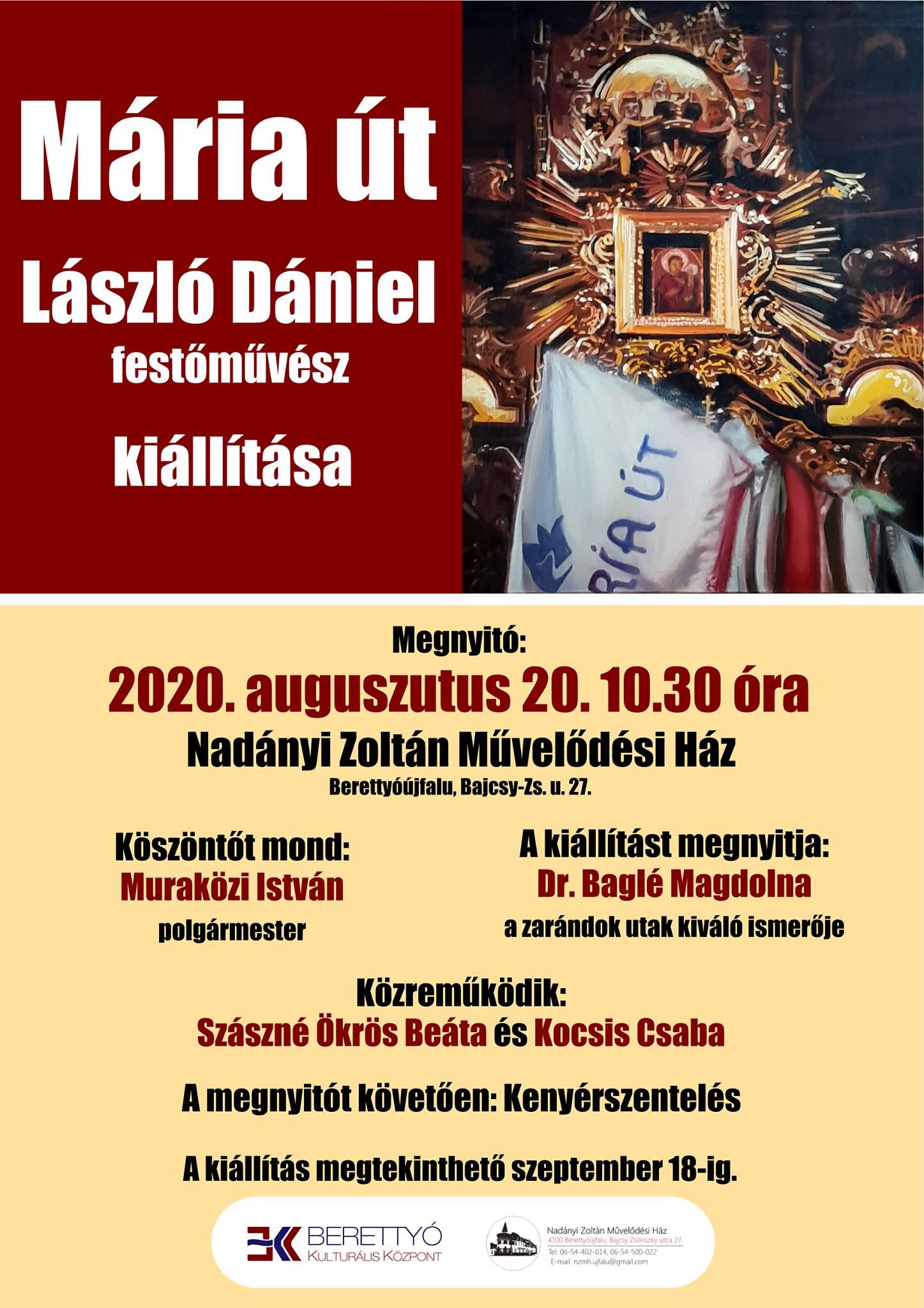 Mária út - László Dániel festőművész kiállítása
